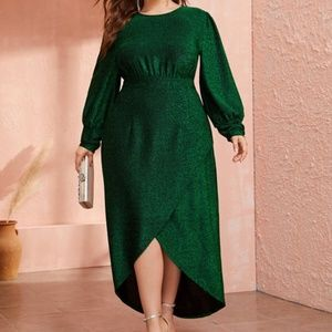 Plus Size Holiday Green Dress